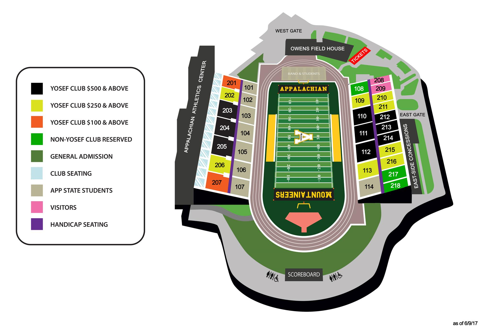 Kidd Brewer Stadium Seating Chart