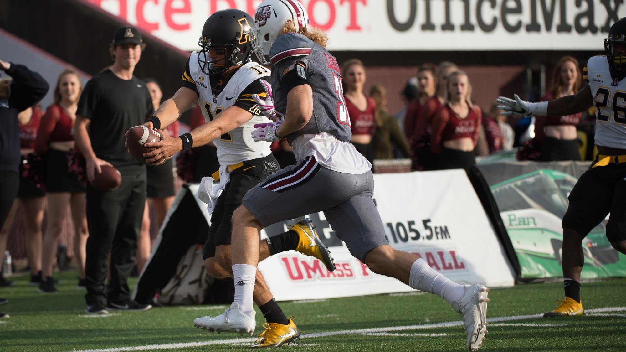 App State Falls In Ot At Umass Appalachian State Mountaineers