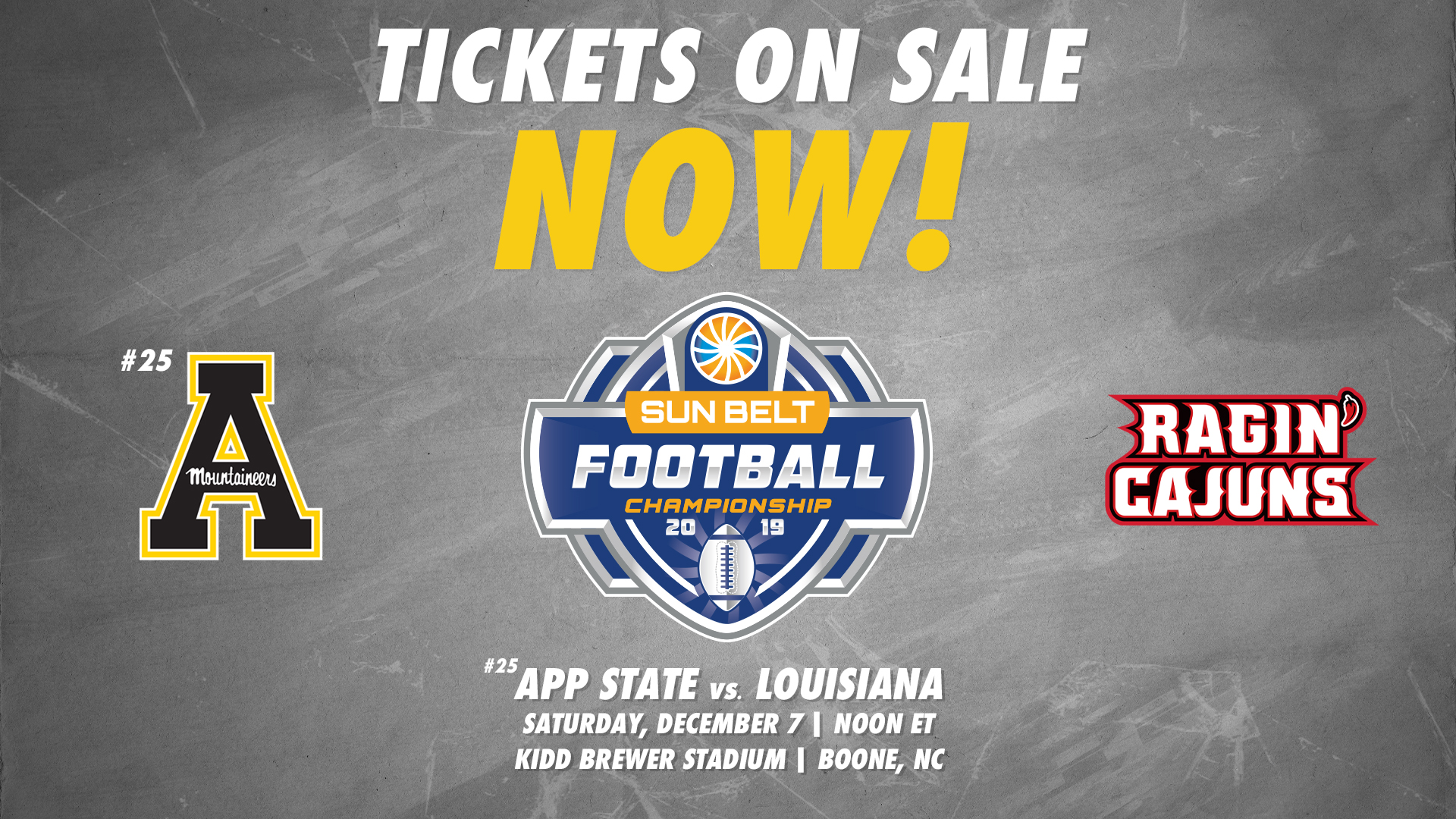 Sun Belt Championship Tickets On Sale Now To General Public App State Athletics