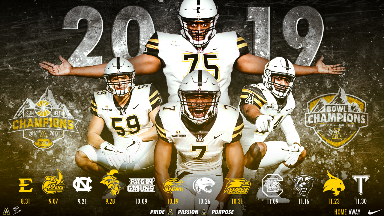 Uncc Football Schedule 2020 2019 App State Football Schedule Revealed   Appalachian State