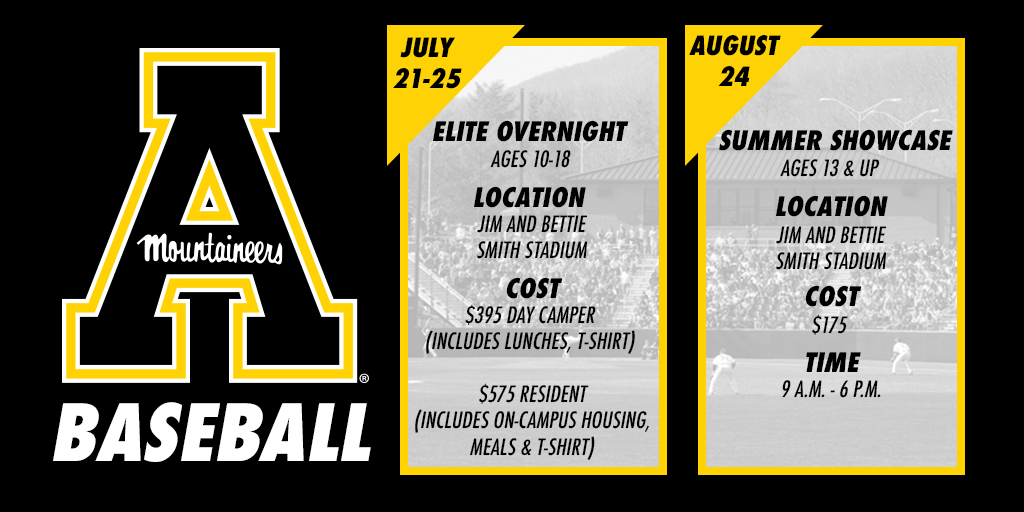 2019 Baseball Camps and Showcases - Appalachian State