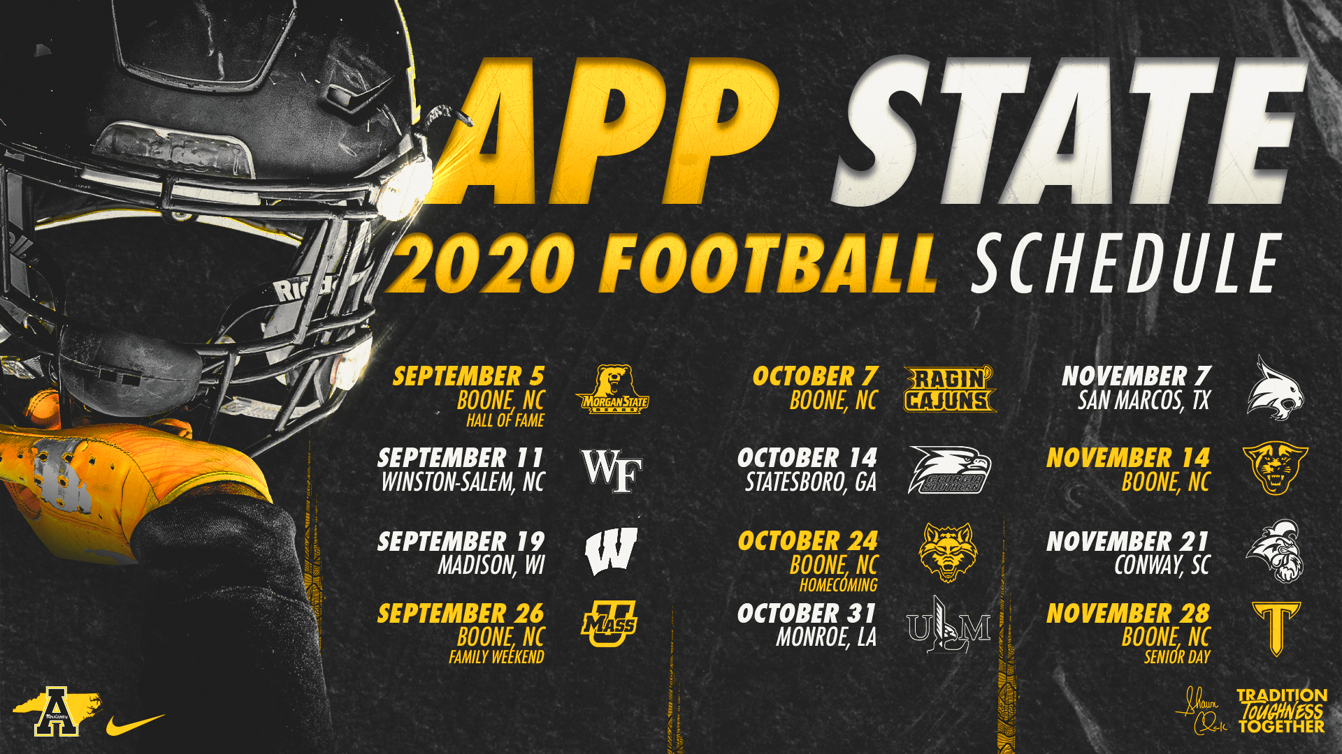 2020 App State Football Schedule Announced App State Athletics