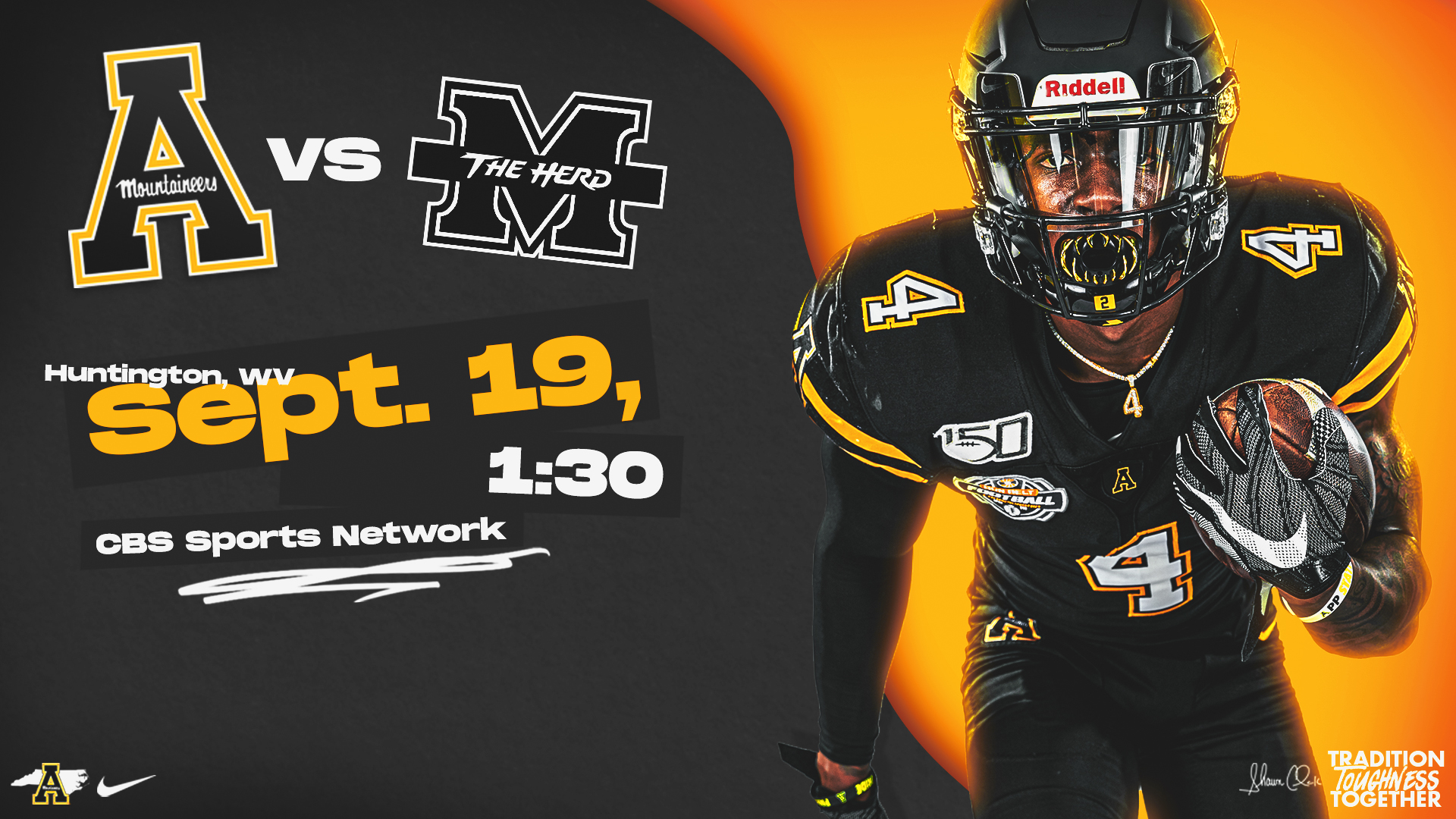 App State Marshall To Kick Off At 1 30 On Cbssn App State Athletics